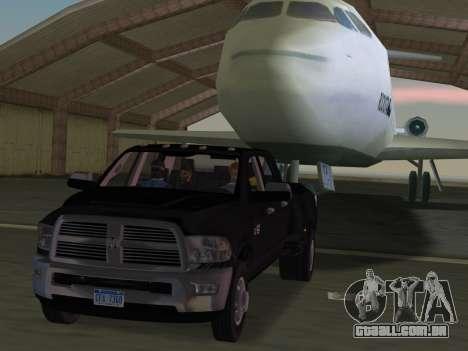 Dodge Ram 3500 Laramie 2012 para GTA Vice City vista inferior