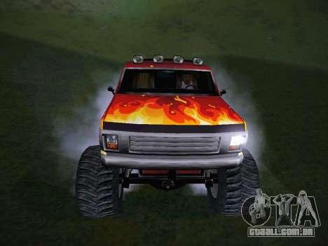 Novas texturas para o monstro (A) para GTA San Andreas vista traseira