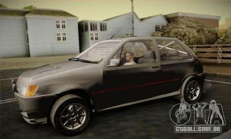 Ford Fiesta Mk3 XR2i para GTA San Andreas vista direita