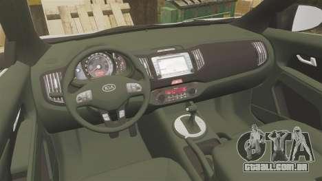 Kia Sportage Metropolitan Police [ELS] para GTA 4 vista de volta