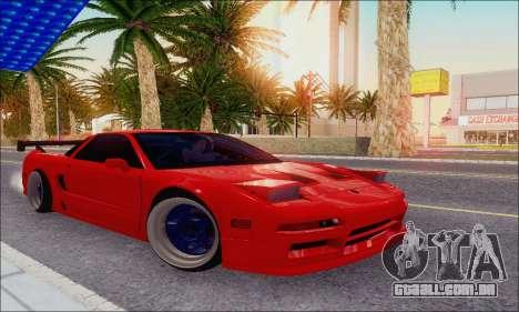 Acura NSX Drift para vista lateral GTA San Andreas