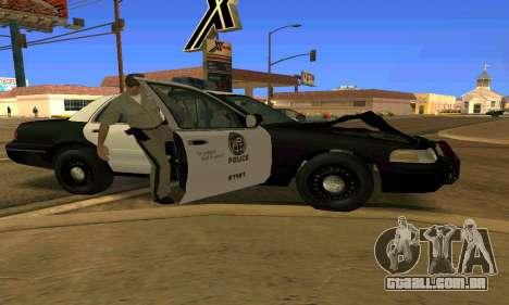 Ford Crown Victoria Police LV para GTA San Andreas vista inferior