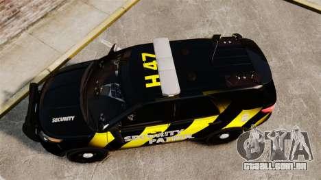 Ford Explorer 2013 Security Patrol [ELS] para GTA 4 vista direita