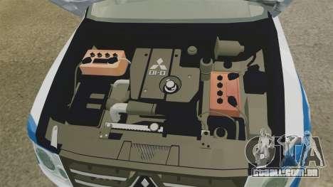 Mitsubishi Pajero Finnish Police [ELS] para GTA 4 vista de volta