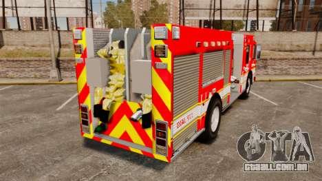 Division on Fire Columbus Firetruck [ELS] para GTA 4 traseira esquerda vista