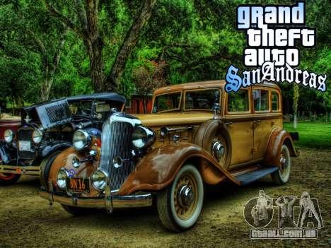 New loadscreen Old Cars para GTA San Andreas nono tela