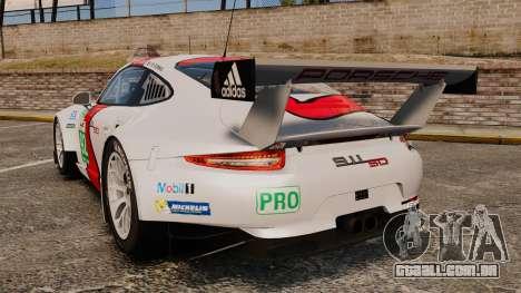 Porsche 911 (991) RSR para GTA 4 traseira esquerda vista