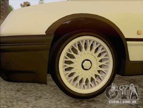 Ford Sierra Mk1 Coupe GHIA para GTA San Andreas traseira esquerda vista
