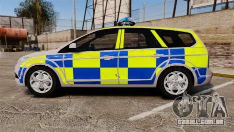 Ford Focus Estate 2009 Police England [ELS] para GTA 4 esquerda vista