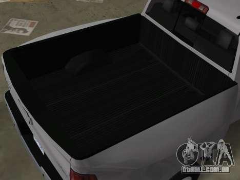 Dodge Ram 3500 Laramie 2012 para GTA Vice City vista interior