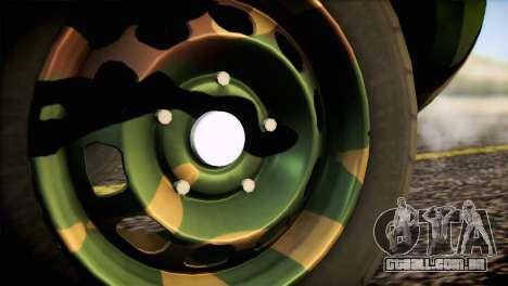 Dacia Duster Army Skin 2 para GTA San Andreas traseira esquerda vista