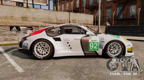Porsche 911 (991) RSR para GTA 4 esquerda vista