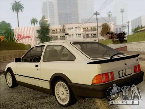 Ford Sierra Mk1 Coupe GHIA para GTA San Andreas esquerda vista