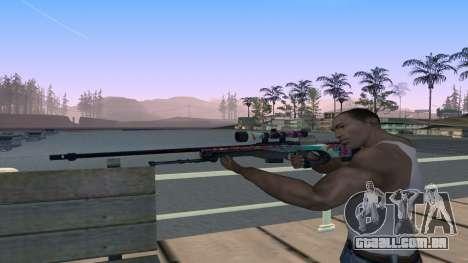 AWP from CS GO Gentleman para GTA San Andreas terceira tela