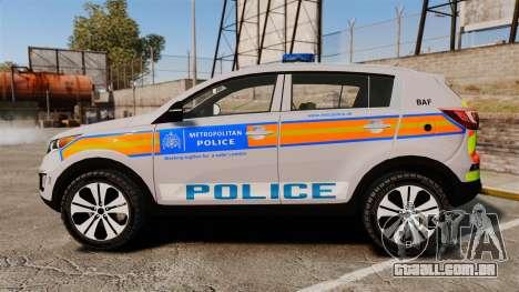 Kia Sportage Metropolitan Police [ELS] para GTA 4 esquerda vista