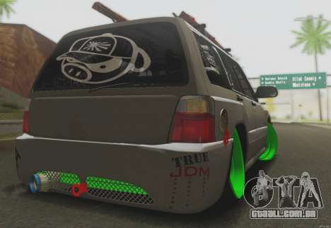 Subaru Forester JDM para GTA San Andreas vista direita
