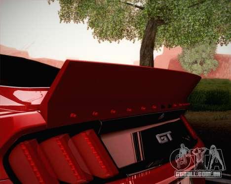 Ford Mustang Rocket Bunny 2015 para GTA San Andreas vista inferior