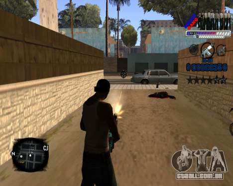 C-HUD Police Gang para GTA San Andreas terceira tela