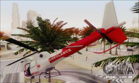 GTA V Ambulacia Maverick para GTA San Andreas vista interior