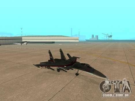 Su-33 para GTA San Andreas vista interior