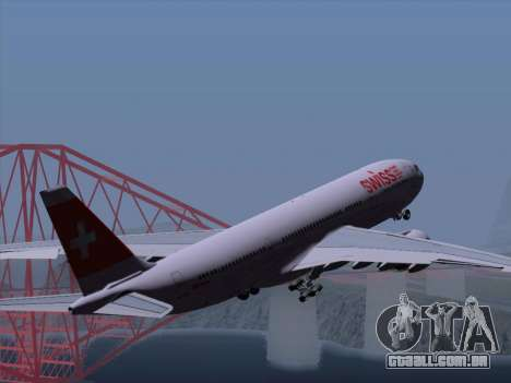 Airbus A330-223 Swiss International Airlines para as rodas de GTA San Andreas