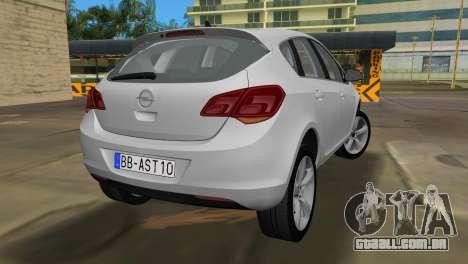 Opel Astra 2011 para GTA Vice City vista traseira esquerda