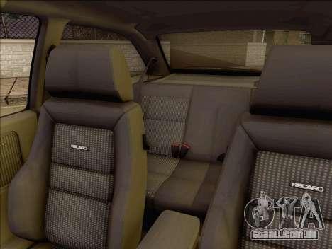 Ford Sierra Mk1 Coupe GHIA para GTA San Andreas vista traseira