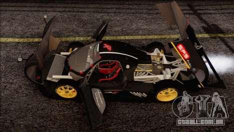 Pagani Zonda R SPS v3.0 Final para GTA San Andreas vista inferior