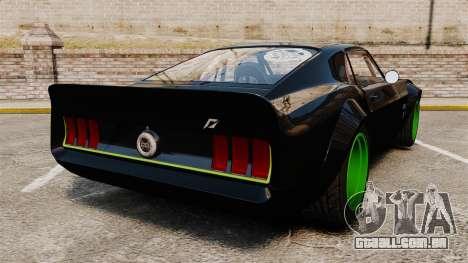 Ford Mustang RTRX para GTA 4 traseira esquerda vista