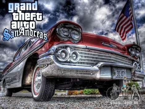 New loadscreen Old Cars para GTA San Andreas por diante tela