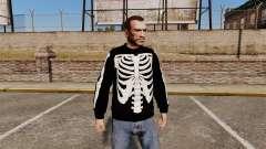 Camisola preta-esqueleto -
