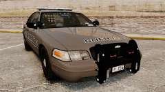 Ford Crown Victoria 2008 Sheriff Patrol [ELS] para GTA 4