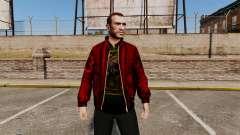 Jaqueta de couro vermelha para GTA 4