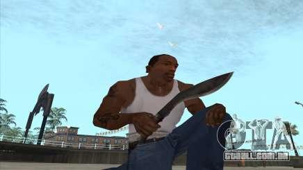 Kukri faca-facão para GTA San Andreas