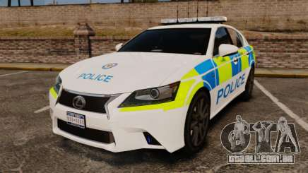 Lexus GS350 West Midlands Police [ELS] para GTA 4