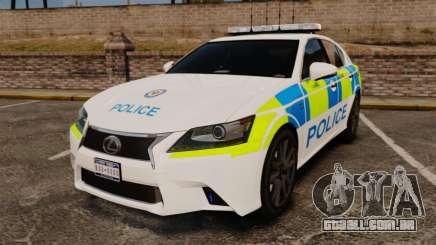 Lexus GS350 West Midlands Police [ELS] para GTA 4