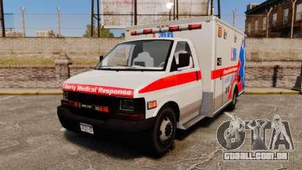 Brute Liberty Ambulance [ELS] para GTA 4