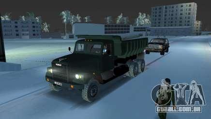 Caminhão de descarga KrAZ 255 para GTA Vice City
