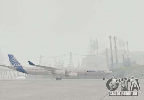 Airbus A340-600 para GTA San Andreas vista direita