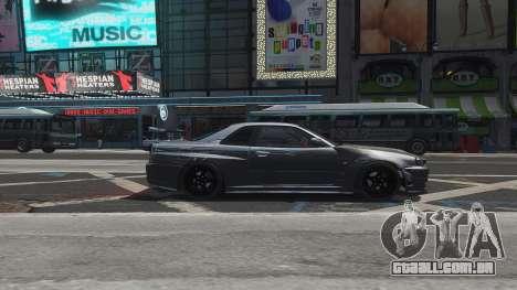 Nissan Skyline GTR-34 Nismo Z-Tune para GTA 4 motor