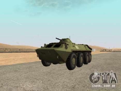 BTR-70 para GTA San Andreas vista direita