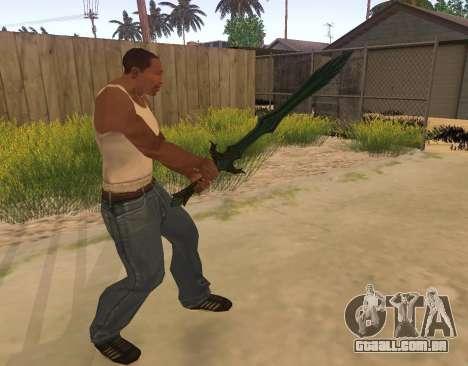 Vidro Espada de Skyrim para GTA San Andreas terceira tela