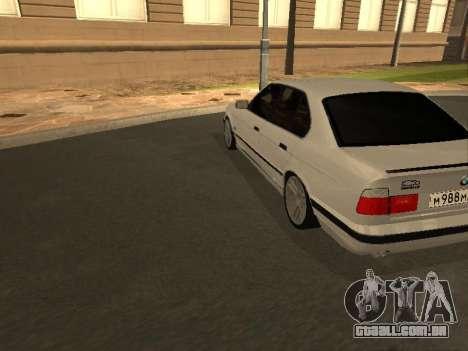 BMW 525 Smotra para GTA San Andreas vista direita