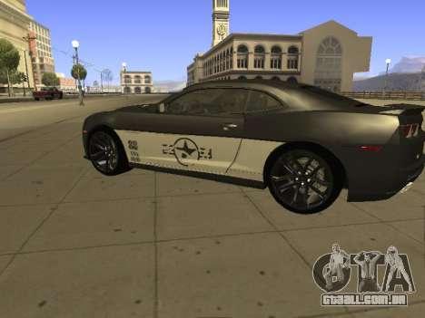 Chevrolet Camaro ZL1 para GTA San Andreas esquerda vista
