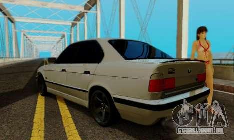 BMW 525 Re-Styling para GTA San Andreas vista traseira