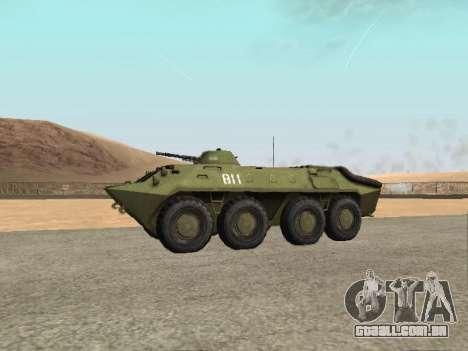 BTR-70 para GTA San Andreas traseira esquerda vista