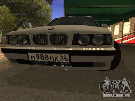 BMW 525 Smotra para GTA San Andreas vista traseira
