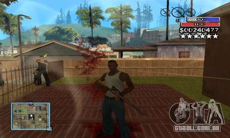 C-HUD by NickQuest para GTA San Andreas segunda tela