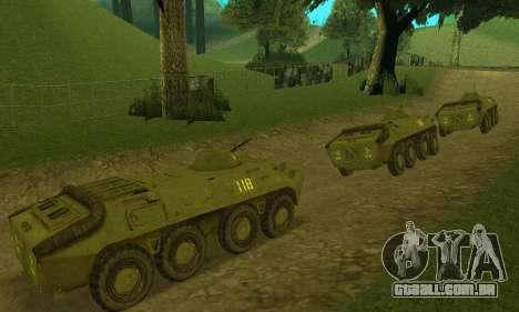 BTR-70 para GTA San Andreas esquerda vista