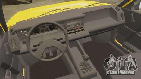 Renault 21 Nevada GTD para GTA 4 vista interior